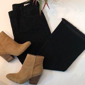 Zara Denim, Wide Leg Cropped Jean